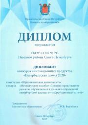 Петербургская школа 2020